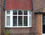 TLC upvc splay bay window