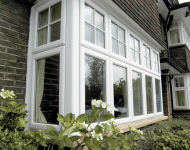 TLC upvc square bay window